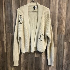 Divided Oh Love Knitted Open Front Cardigan